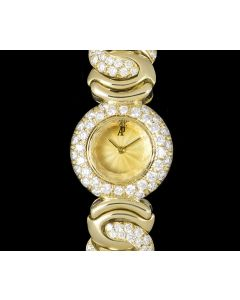 Audemars Piguet Diamond Set Women's Yellow Gold Cocktail Dress Watch
