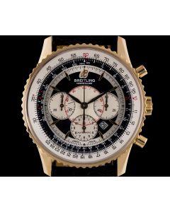 Breitling Montbrillant Navitimer Gents 18k Rose Gold Black Dial B&P H4137012/B987