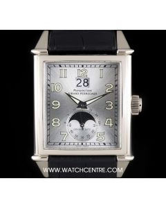 Girard Perregaux 18k White Gold Silver Dial Big Date Moonphase Gents B&P 25800.0.53.115