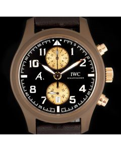 IWC Limited Edition Pilots The Last Flight Men's 18k Rose Gold & Ceramic Brown Dial B&P IW388006