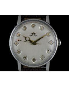 Gruen Stainless Steel Silver Dial Airflight Jump Hour Gents 191701/130
