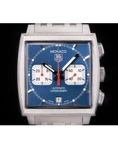 Tag Heuer Monaco Gents Stainless Steel Blue Dial B&P CW2113.FC6183