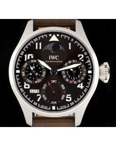 IWC Unworn Big Pilots Perpetual Calendar Gents Stainless Steel Brown Dial B&P IW503801