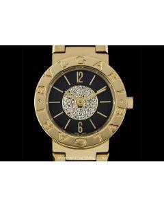 Bvlgari Bvlgari 18k Yellow Gold Black Diamond Dial Ladies BB 23 DGG