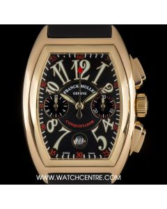Franck Muller 18k Rose Gold Conquistador Chronograph Gents B&P 8001 CC