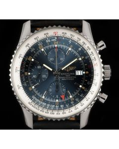 Breitling Navitimer 1 Chronograph Gents Stainless Steel Blue Baton Dial B&P A2432212/C651/441X/A20BA.1