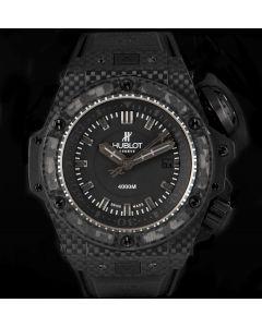 Hublot King Power Oceanographic Gents Carbon Black Dial B&P 731.QX.1140.RX