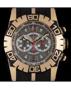 Roger Dubuis Easy Diver Chronoexcel 18k Rose Gold Grey Dial B&P SED46-78-51-00/08A10/B1