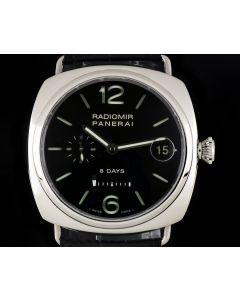 Panerai Radiomir 8 Days Gents Stainless Steel Black Dial PAM00268