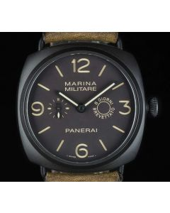 Panerai Limited Edition Radiomir Marina Militare Men's Composite Brown Dial B&P PAM00339