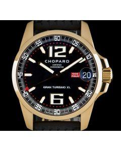 Chopard Mille Migila Gran Turismo XL Gents 18k Rose Gold Black Dial B&P