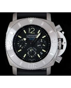 Panerai Limited Edition Luminor Submersible Gents Stainless Steel Black Dial B&P PAM00187