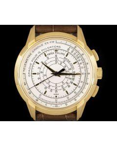 Patek Philippe 175th Anniversary Chronograph Men's 18k Yellow Gold Silver Opaline Dial B&P 5975J-001
