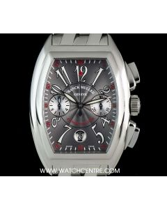 Franck Muller Stainless Steel Grey Arabic Dial Conquistador Chrono Gents 8005 CC
