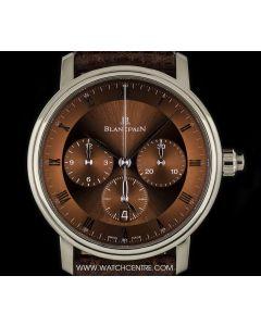 Blancpain 18k White Gold Single Pusher Villeret Chronograph 6185-1546-55