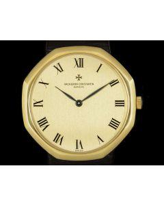 Vacheron Constantin Rare Octagonal Men's 18k Yellow Gold Champagne Dial 39001