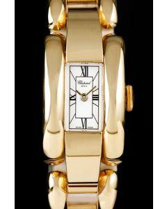 Chopard La Strada Ladies 18k Yellow Gold White Dial B&P 41/7396-0001