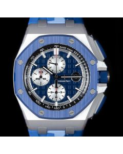 Audemars Piguet Unworn Limited Edition Royal Oak Offshore Camo Men's Stainless Steel Blue Dial B&P 26400SO.OO.A335CA.01