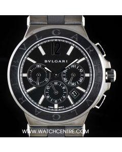 Bvlgari Ceramic Unworn Black Dial Diagono Chronograph Gents B&P DG42BSCCH