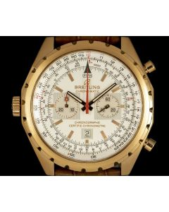 Breitling Limited Edition Chrono-matic Gents 18k Rose Gold Silver Dial B&P H41360