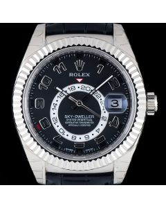 Rolex White Gold Black Dial Annual Calendar Sky-Dweller 326139