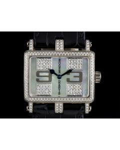 Roger Dubuis 18k White Gold Mother Of Pearl Dial Diamond Set Too Much T22-86 0-FD ND1/46.53