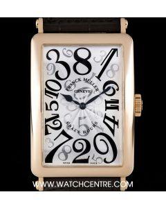 Franck Muller 18k Rose Gold Silver Arabic Dial Crazy Hours Long Island Gents 1200 CH