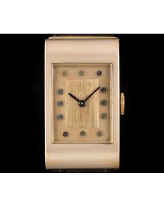 Boucheron Ladies Vintage Dress Watch 18k Rose Gold Rose Dial