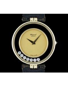 Chopard 18k Yellow Gold Champagne Dial Happy Diamonds Kutchinsky Wristwatch H2466
