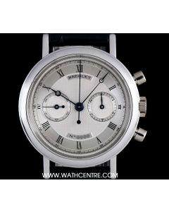 Breguet Platinum Silver Roman Dial Classique Chronograph 3237 PT