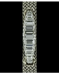 Blancpain Retailed By Kutchinsky 18k White Gold Diamond Set Vintage Ladies