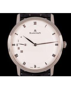 Blancpain Villeret Gents 18k White Gold White Opaline Dial 4040-1542-55