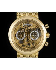 Vacheron Constatin Gents 18k Yellow Gold  Skeleton Chronograph Dial B&P 47100/236J-3