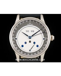 Jaquet Droz 18k White Gold Les Lunes Tribute 1784 Triple Calendar Moonphase J0126/24203