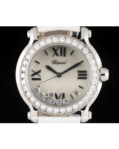 Chopard Stainless Steel Mother Of Pearl Dial Happy Diamonds Ladies B&P 27/8476-20A