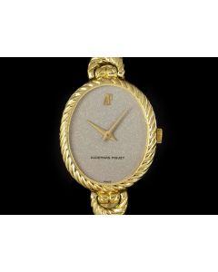 Audemars Piguet Vintage Ladies 18k Yellow Gold & 18k White Gold Grey Stone Dial