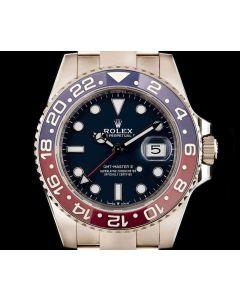 Rolex Unworn GMT-Master II Pepsi Men's 18k White Gold Blue Dial B&P 126719BLRO