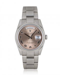 Rolex Day-Date Men's 18k White Gold Salmon Dial 118239