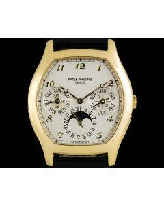 Patek Philippe Tonneau Perpetual Calendar Men's 18k Yellow Gold 5040J