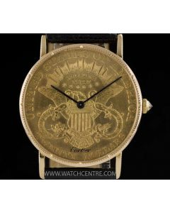 Corum 18k Yellow Gold Very Rare 20 Dollar Coin Gents Wristwatch Retailed By Cartier