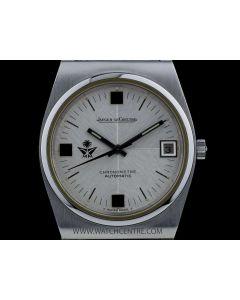 Jaeger LeCoultre Stainless Steel Saudi Arabia Emblem Silver Dial Vintage Chronometre