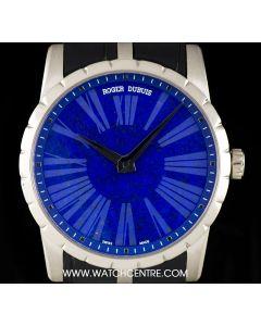 Roger Dubuis 18k White Gold Lapis Lazuli Dial Excalibur Limited Edition Gents B&P DBEX0349