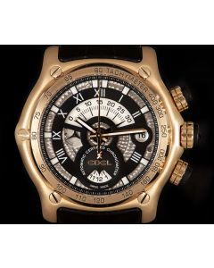 Ebel Chronometer Gents 18k Rose Gold Silver Dial E5139L72