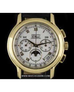 Zenith 18k Yellow Gold El Primero Chronomaster Annual Cal Moonphase 30.0240.410