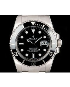 Rolex Unworn Submariner Date Men's Stainless Steel Black Dial Ceramic Bezel B&P 116610LN