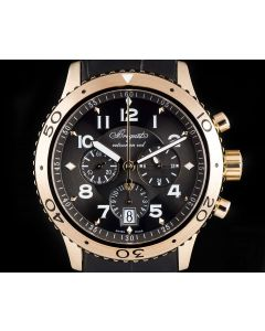 Breguet Type XXI Flyback Chronograph Gents 18k Rose Gold Brown Dial 3810BR/92/9ZU