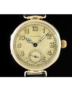 Longines Vintage Gents 14k Yellow Gold Champagne Dial