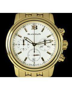 Blancpain Leman Chronograph Men's 18k Yellow Gold White Dial 2185-1418-63A