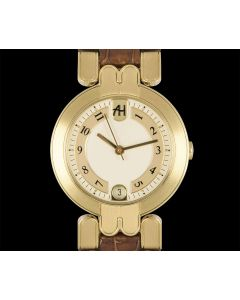 Harry Winston Premier Automatic Date Women's 18k Yellow Gold Silver Dial