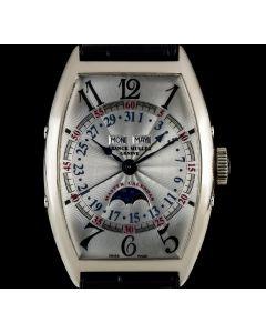 Franck Muller 18k White Gold Silver Dial Master Calendar Lunar B&P 5850MCL
